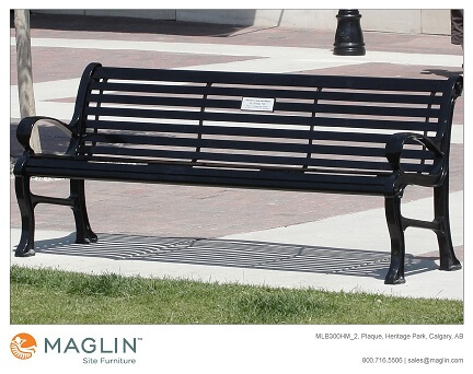 Commemorative bench model