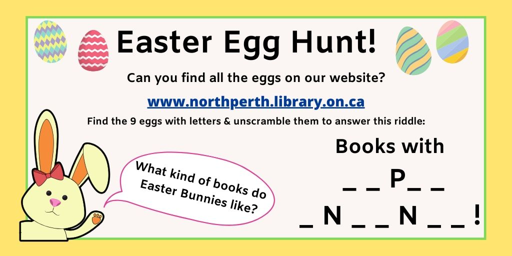 Easter Bunny asking question. Details in text on page.