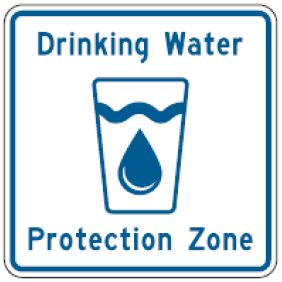 Drinking Water Protection Zone road sign