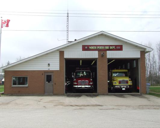 Front view of the Atwood Fire Hall