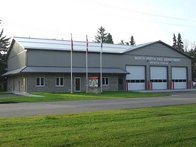 Front view of Monkton Fire Station
