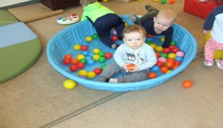 Toddlers playing